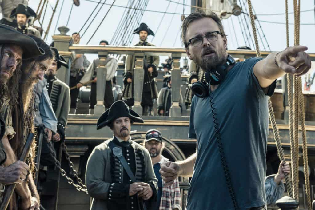 Pirates of the Caribbean: Dead Men Tell No Tales - filming - Director on Ship