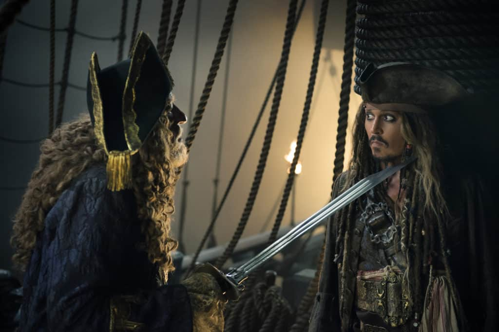Pirates of the Caribbean: Dead Men Tell No Tales - Captain Barbossa and Jack Sparrow