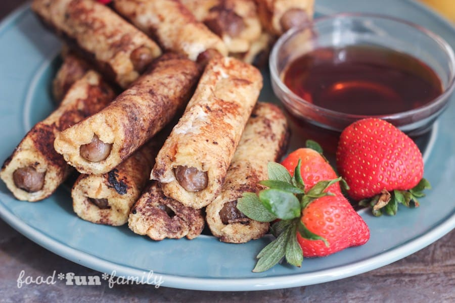 French Toast Wrapped Sausage Dippers from Food Fun Family
