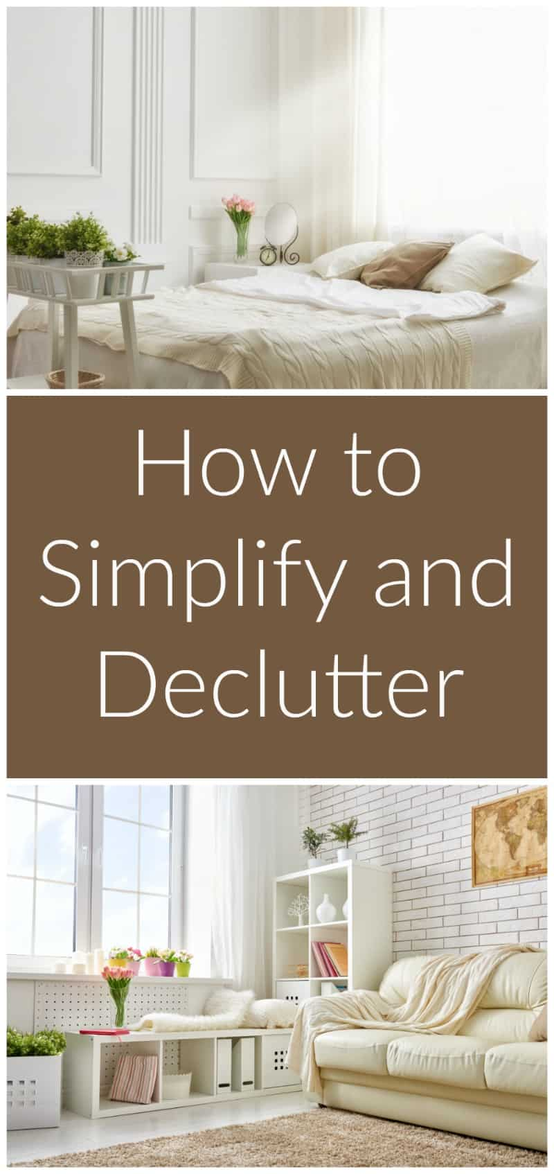 How to simplify and declutter