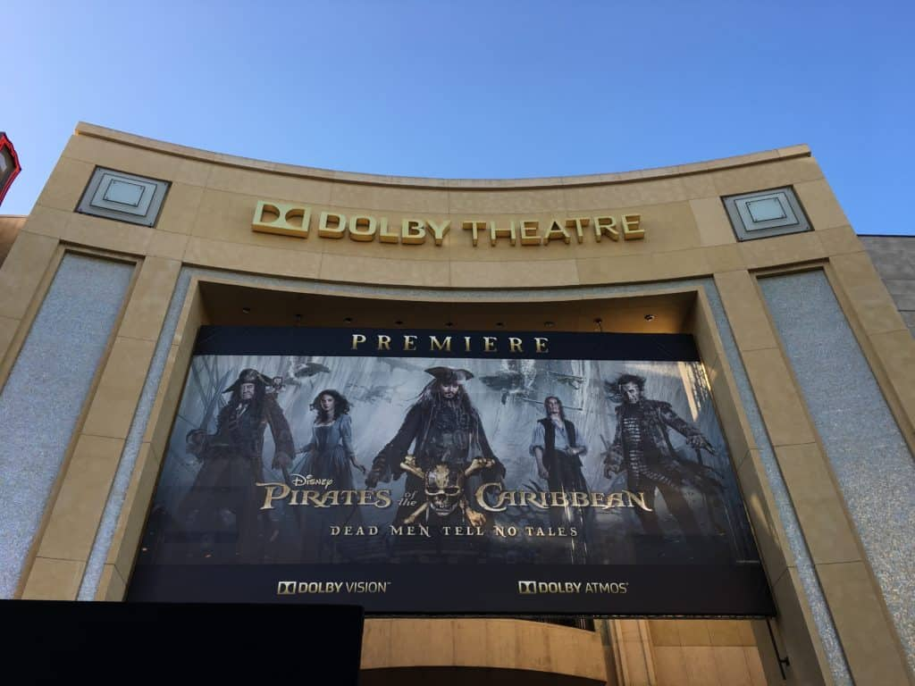 Pirates Caribbean Premiere 2017 - Dolby Theater Sign