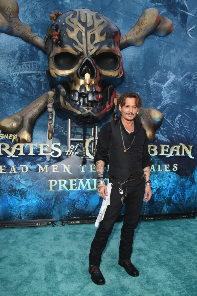 Pirates of the Caribbean: Dead Men Tell No Tales Hollywood Premiere Johnny Depp