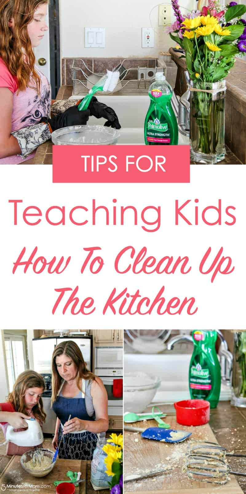 Tips for teaching kids how to clean up the kitchen