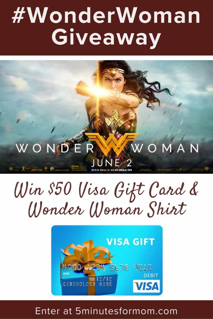 Wonder Woman Gift Card Giveaway