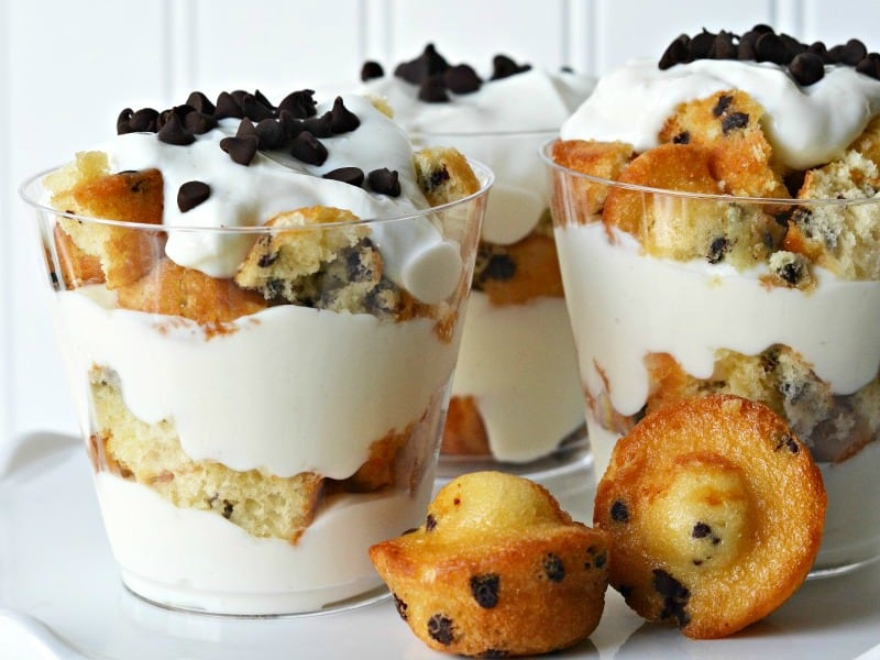 muffin and yogurt trifle cups for kids