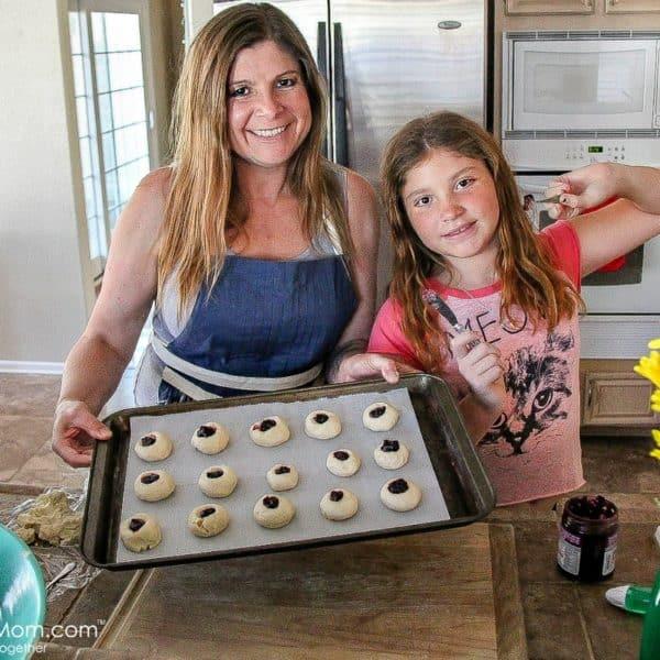 Gluten-Free Boysenberry Thumbprint Cookies