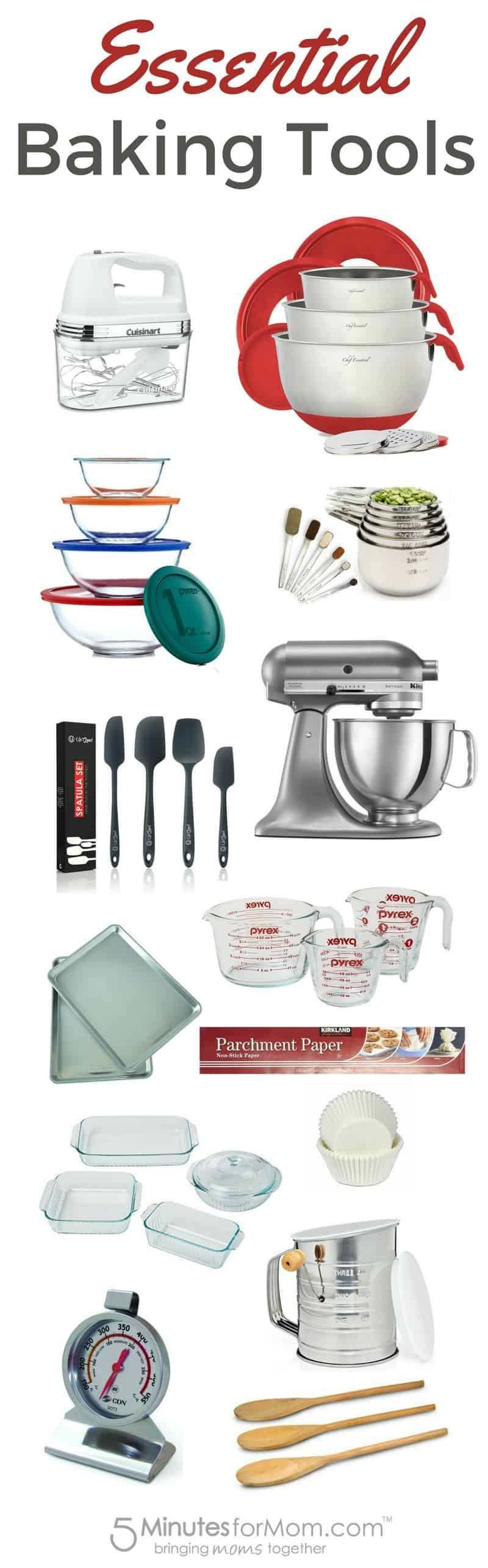 20 baking tools and equipments If you want the best baked goods, there are some important baking tools you should consider buying that will greatly improve the outcome of your recipes.