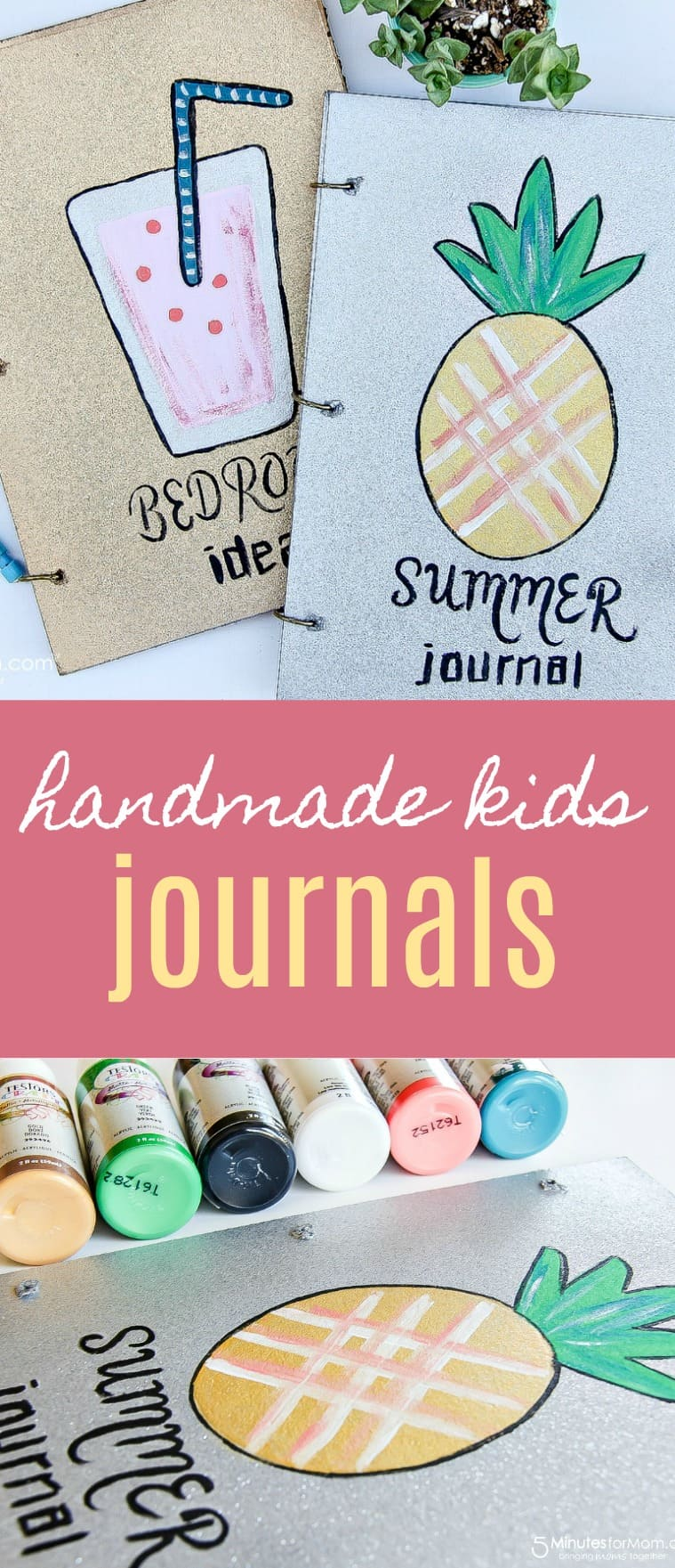 Handmade Journals - Kids Will Love These Summer themed DIY Journals