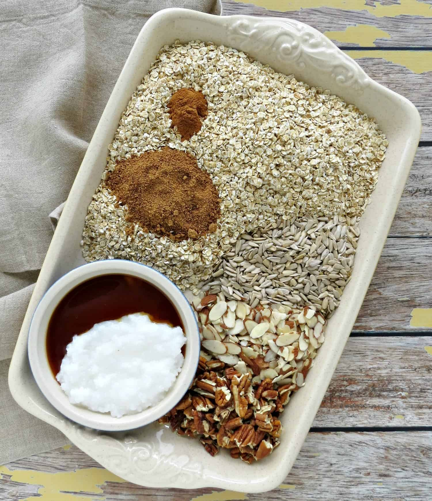 Nutty Homemade Granola Ingredients