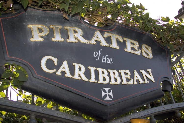 Pirates of the Caribbean Sign at Disneyland