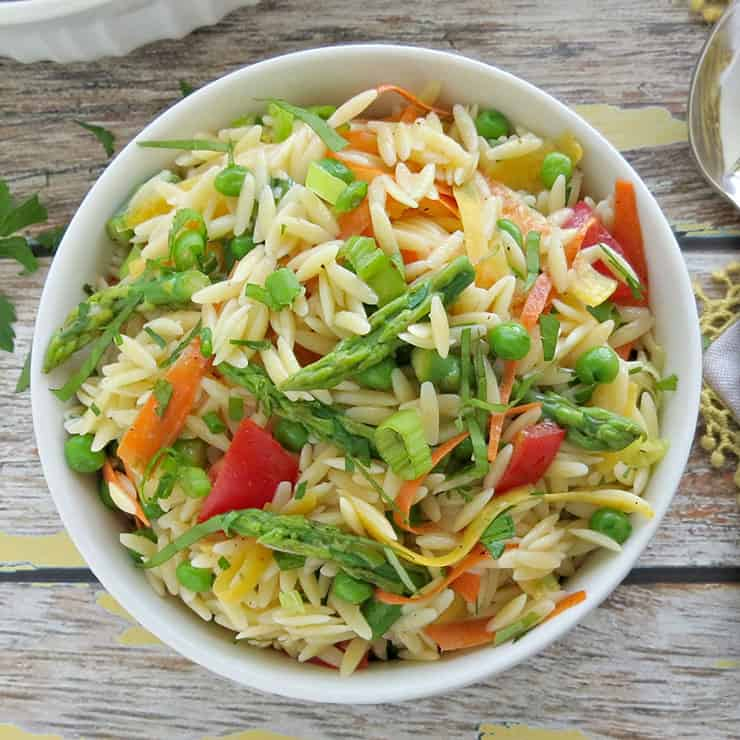 Summer Pasta Salad with Lemon Vinaigrette. This pasta salad is perfect for your spring and summer gatherings! It's fresh, light, and full of flavor.