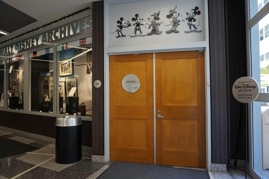 Walt Disney Archives Door