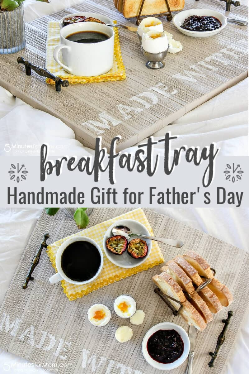 Wooden Breakfast Tray DIY - Handmade Gift For Fathers Day