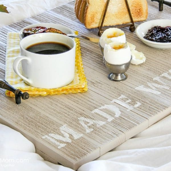 Wooden Breakfast Tray DIY – Handmade Gift Idea