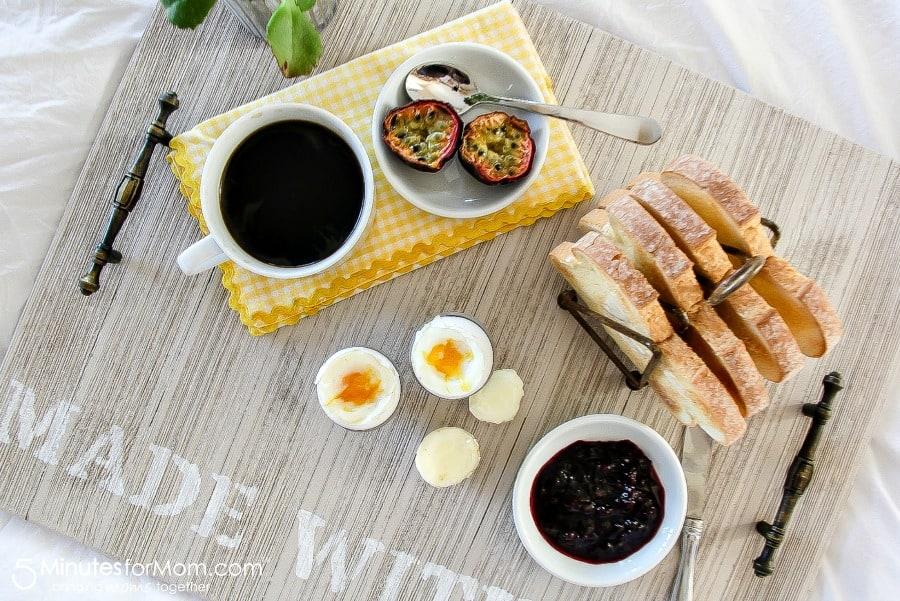 DIY Wooden Breakfast Tray - Handmade Gift For Dad