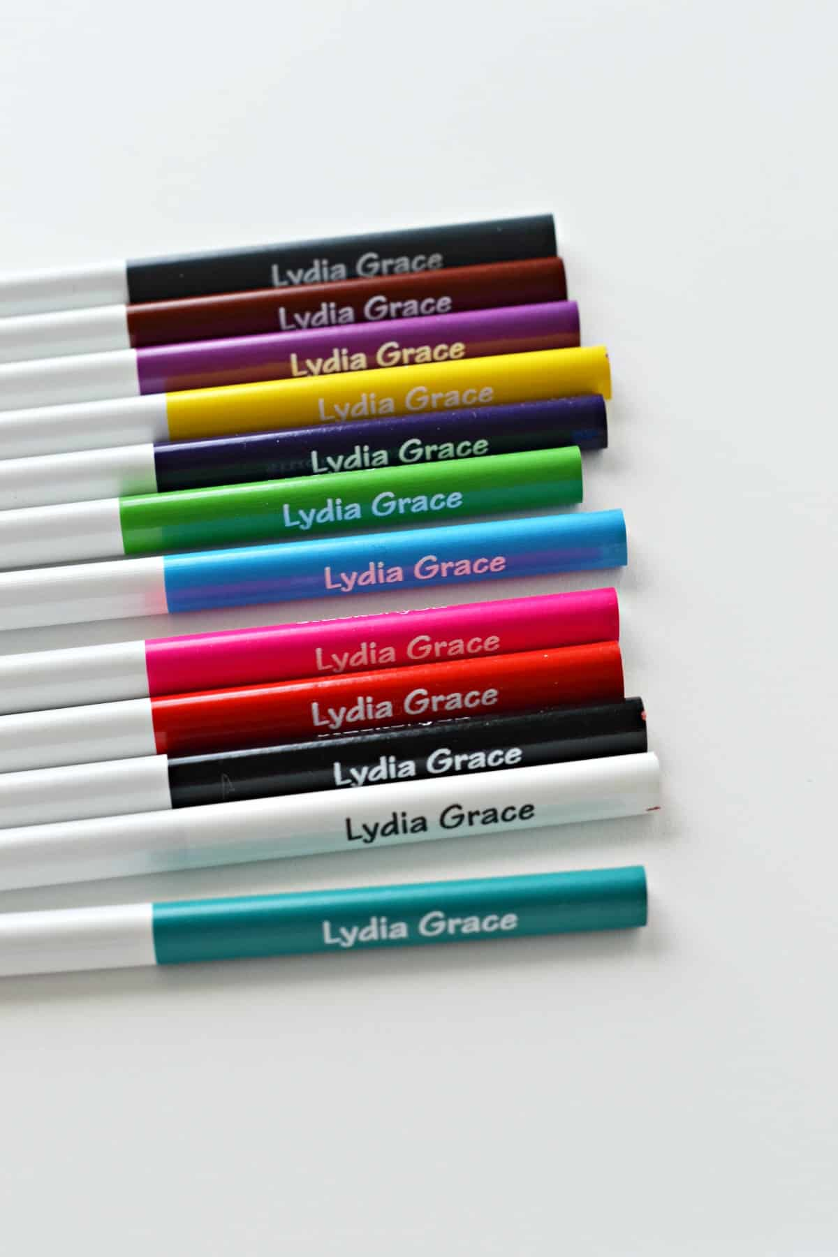 Personalized colored pencils