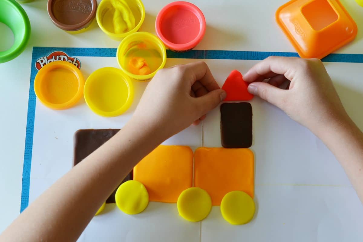 Make shapes with Play-Doh