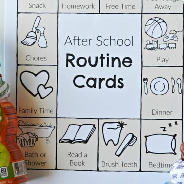 Setting Up A Fun After School Routine – Free Printable