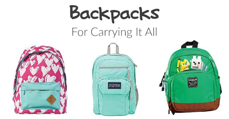 Backpacks for Carrying It All