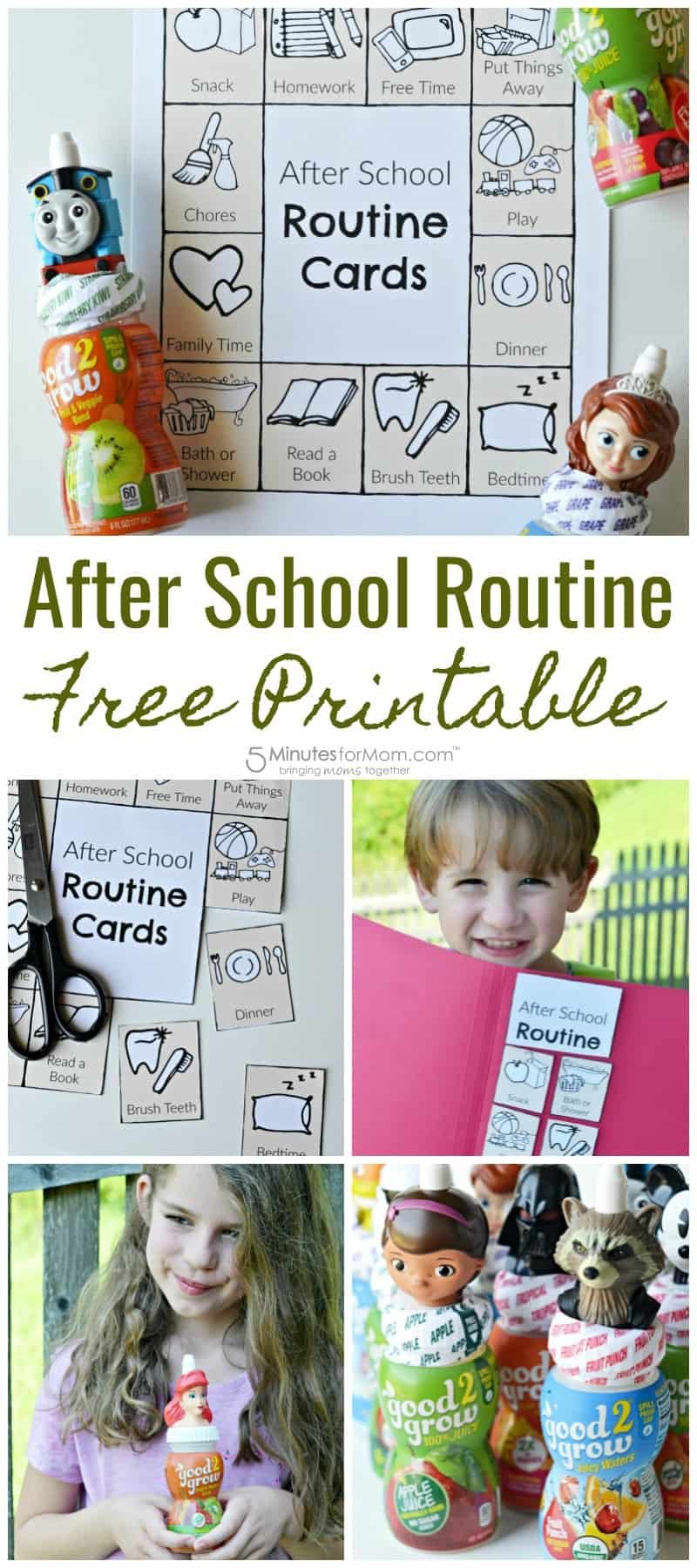 Fun After School Routine Free Printable