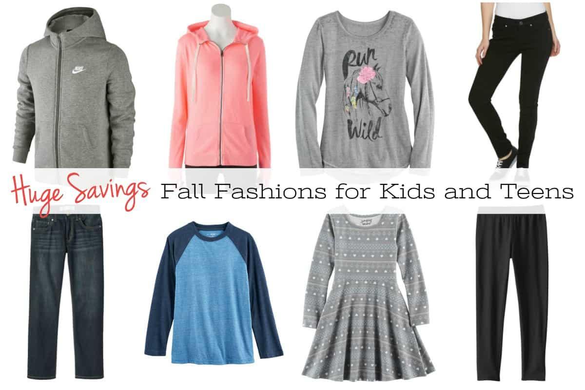 Huge Savings on Fall Fashions for Kids and Teens