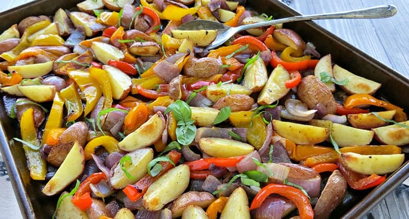 Oven Roasted Potatoes & Peppers