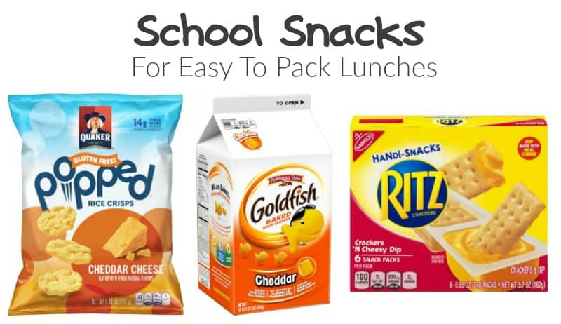 School Snacks for Easy to Pack Lunches