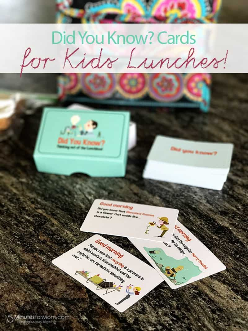 Back to School Fun with Did You Know Cards