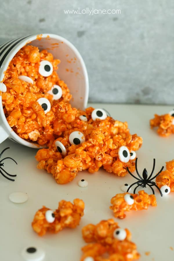 Candied Eyeball Halloween Popcorn from Lolly Jane