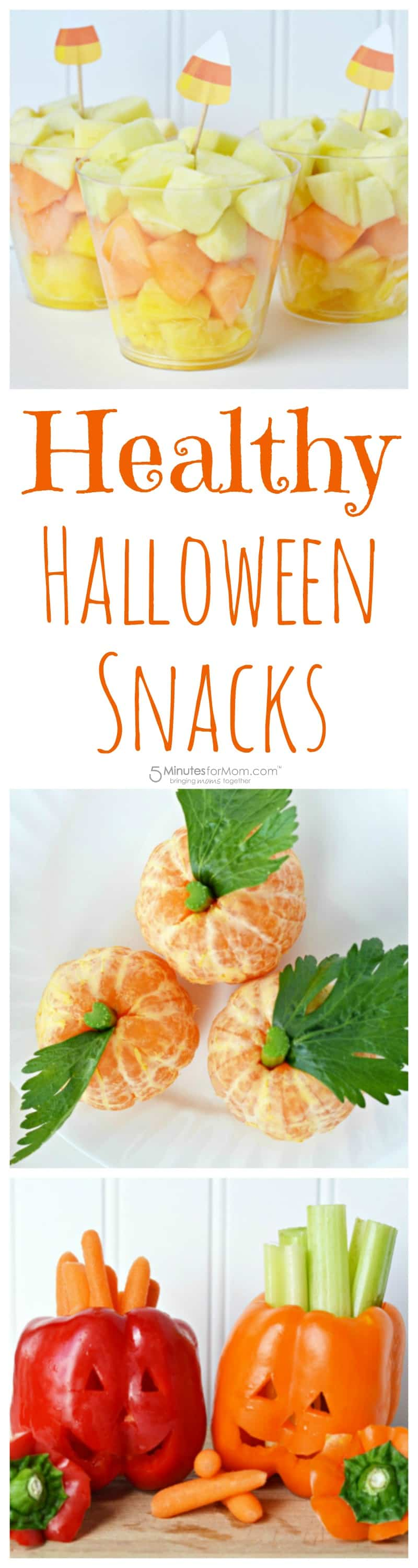 Healthy Halloween Snacks with Fruits and Vegetables