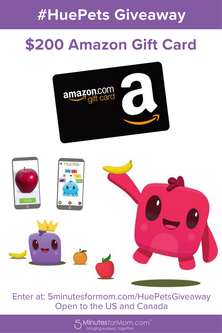 HuePets App For Kids Amazon Gift Card Giveaway