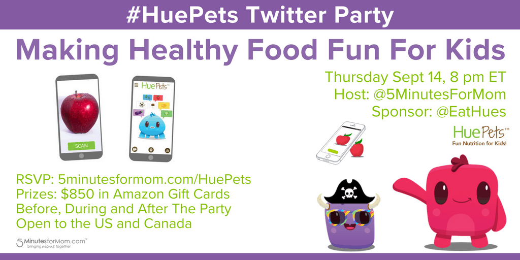 HuePets Twitter Party - Making Healthy Food Fun For Kids
