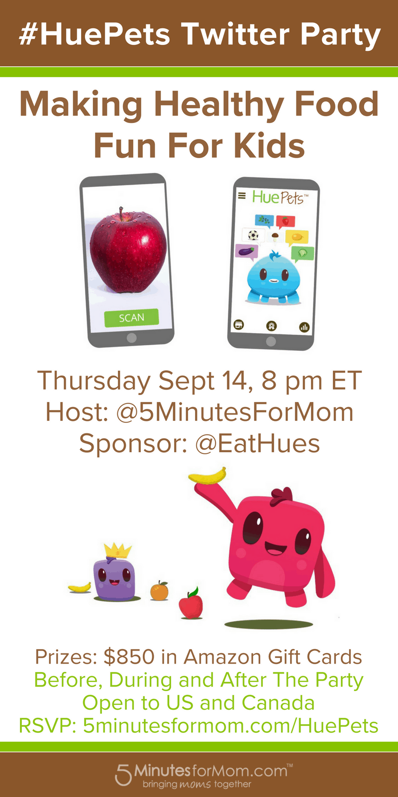 HuePets Twitter Party - Make Healthy Food Fun For Kids