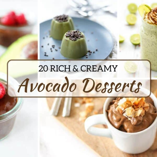 20 Rich and Creamy Avocado Dessert Recipes