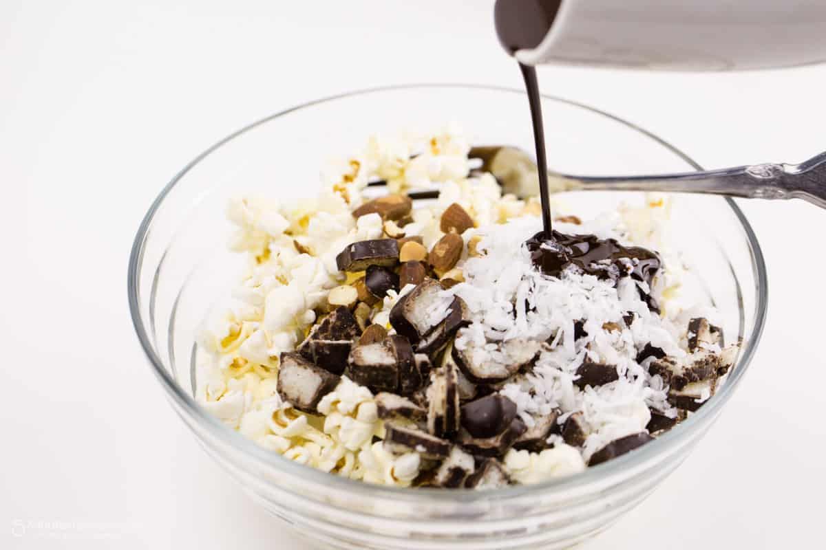 Whippet Sticks Coconut and Chocolate Popcorn Mix Recipe
