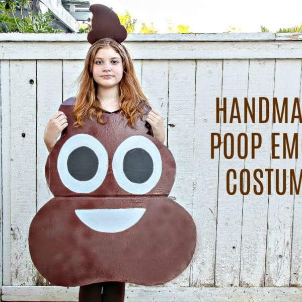 How to Make A Poop Emoji Costume For Kids – Easy DIY Halloween Costume