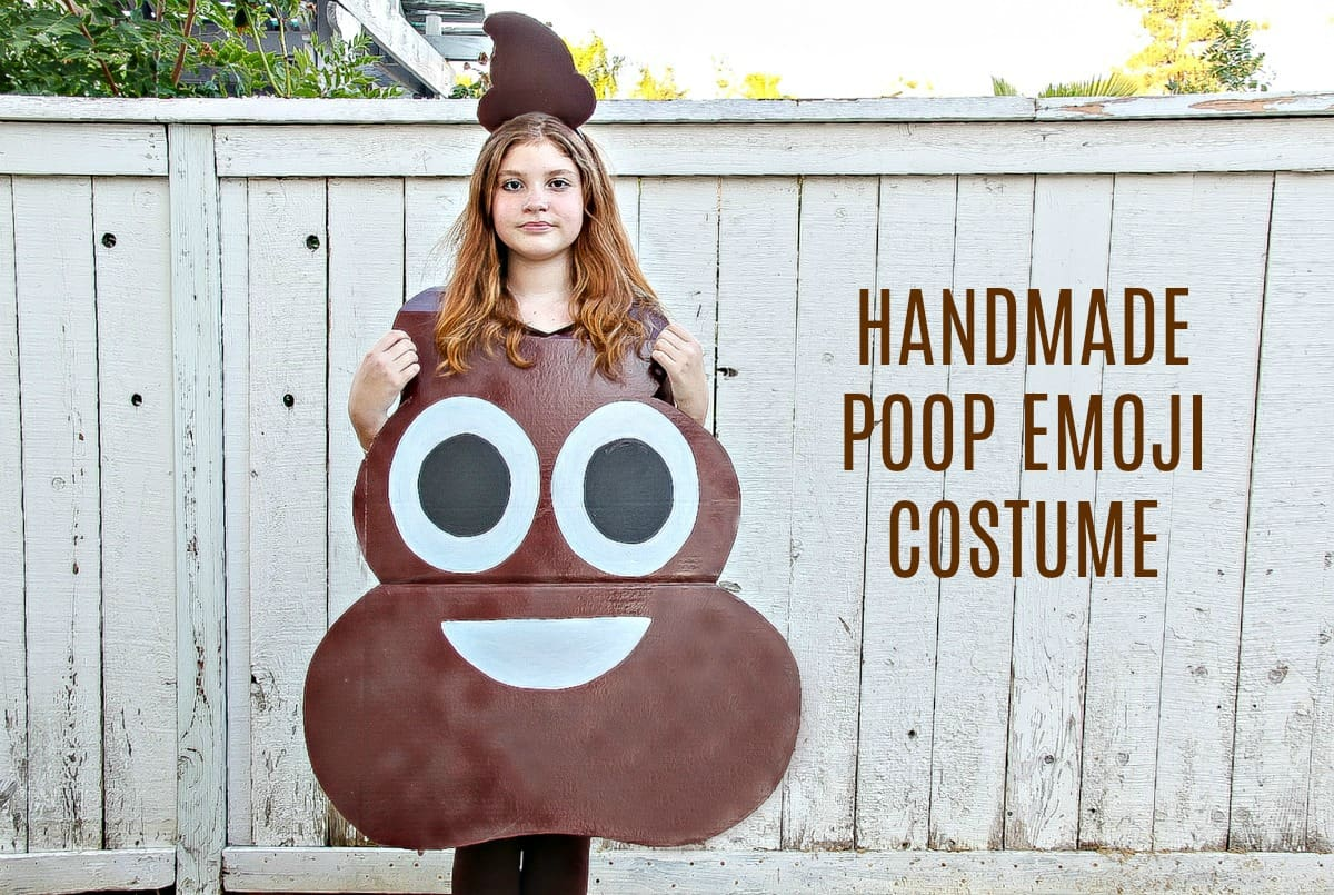 7ab6ee85526d How to Make A Poop Emoji Costume For Kids - Easy DIY Halloween Costume - 5  Minutes for Mom