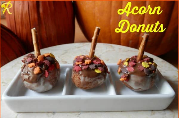 Acorn Donuts from Rae's Books and Recipes