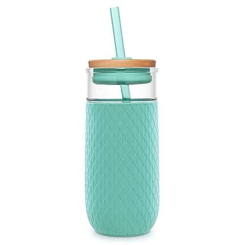 Glass Tumbler with Straw - Christmas Gifts