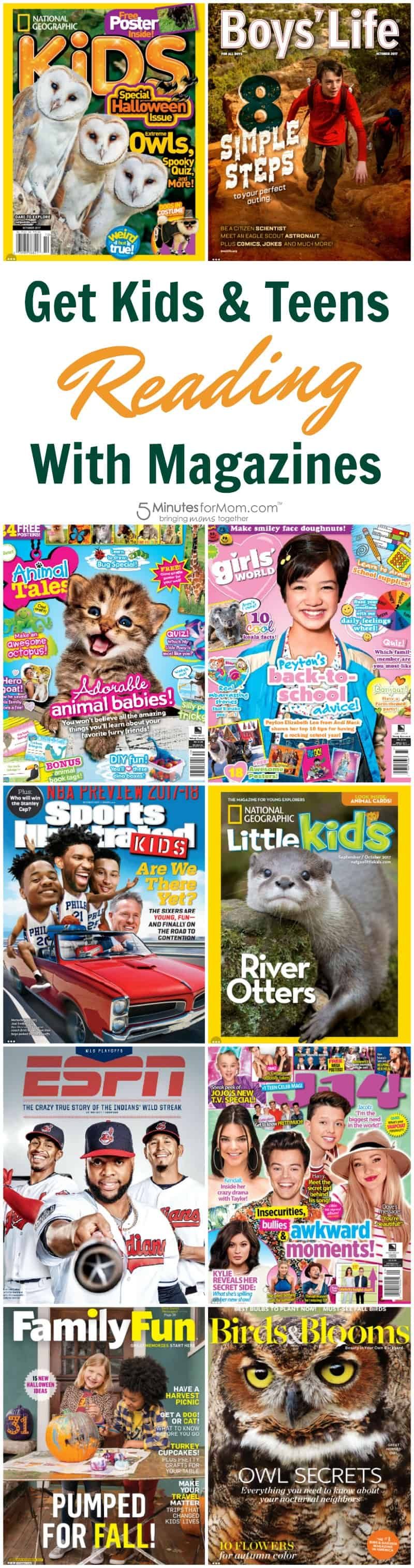 Get Kids and Teens Reading With Magazines