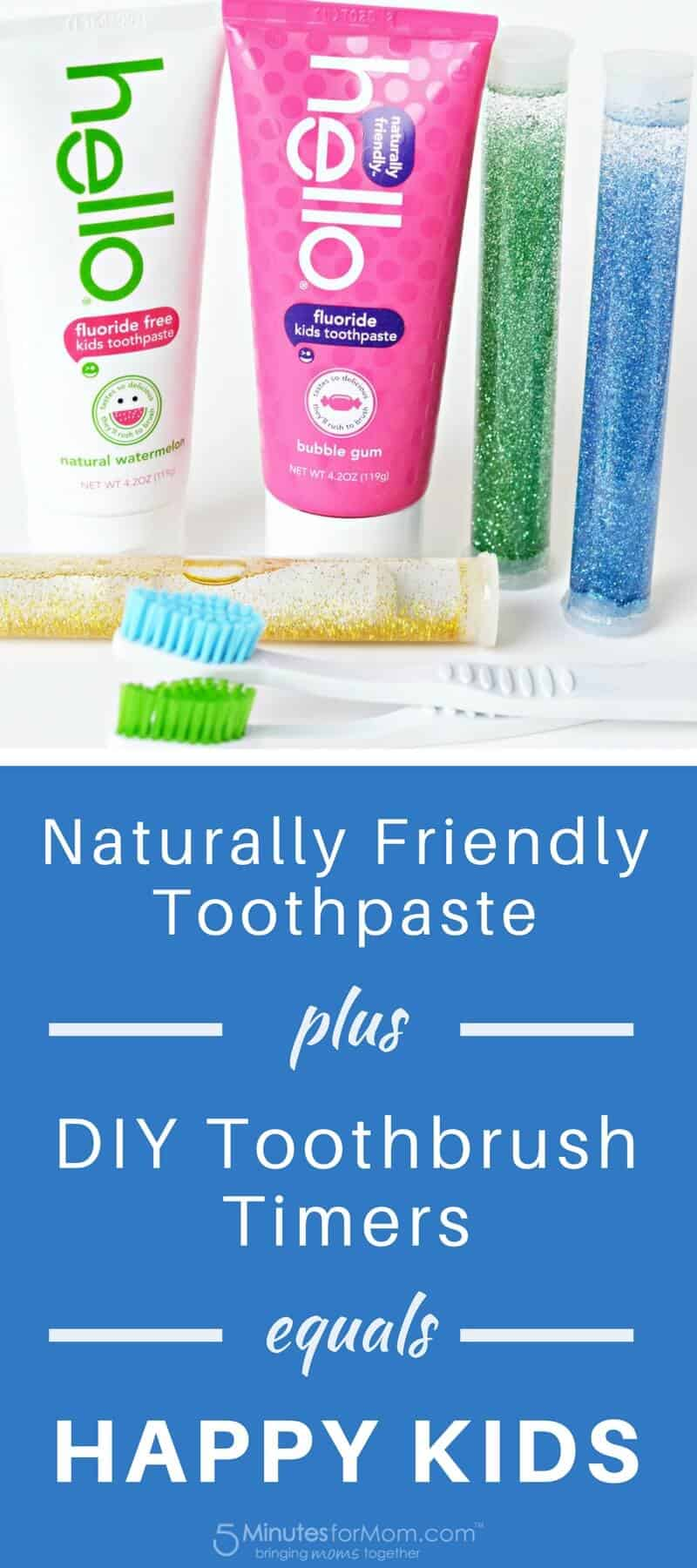 Naturally Friendly Toothpaste plus DIY Toothbrush Timers equals Happy Kids