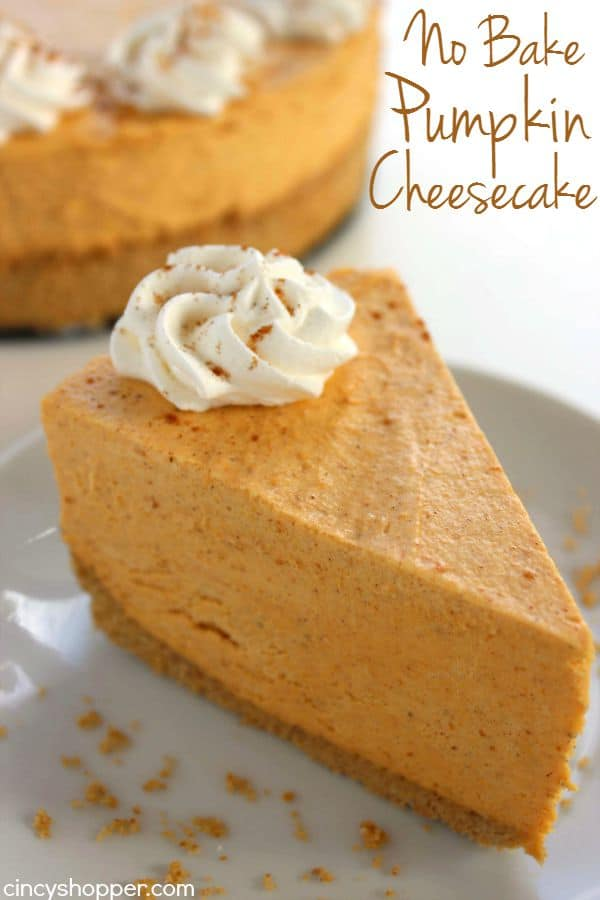 No Bake Pumpkin Cheesecake from Cincy Shopper