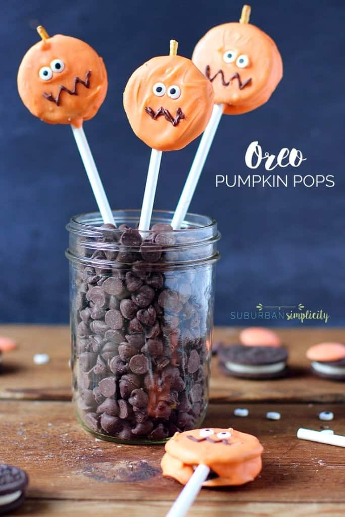 Halloween Party Treats - Oreo Pumpkin Pops