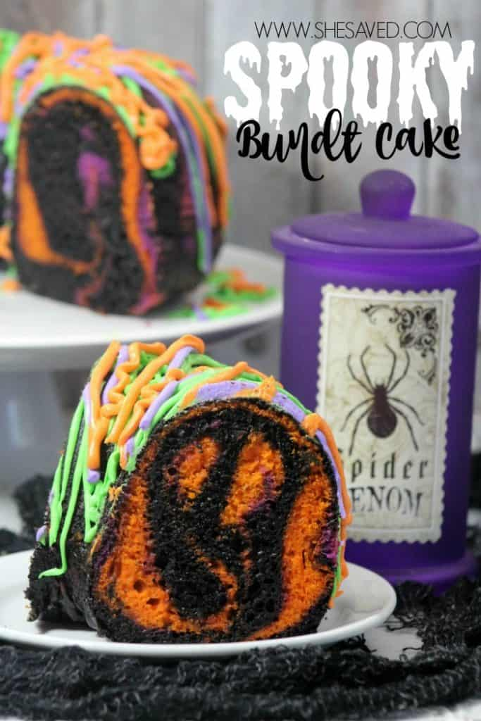 Spooky Bundt Cake from She Saved