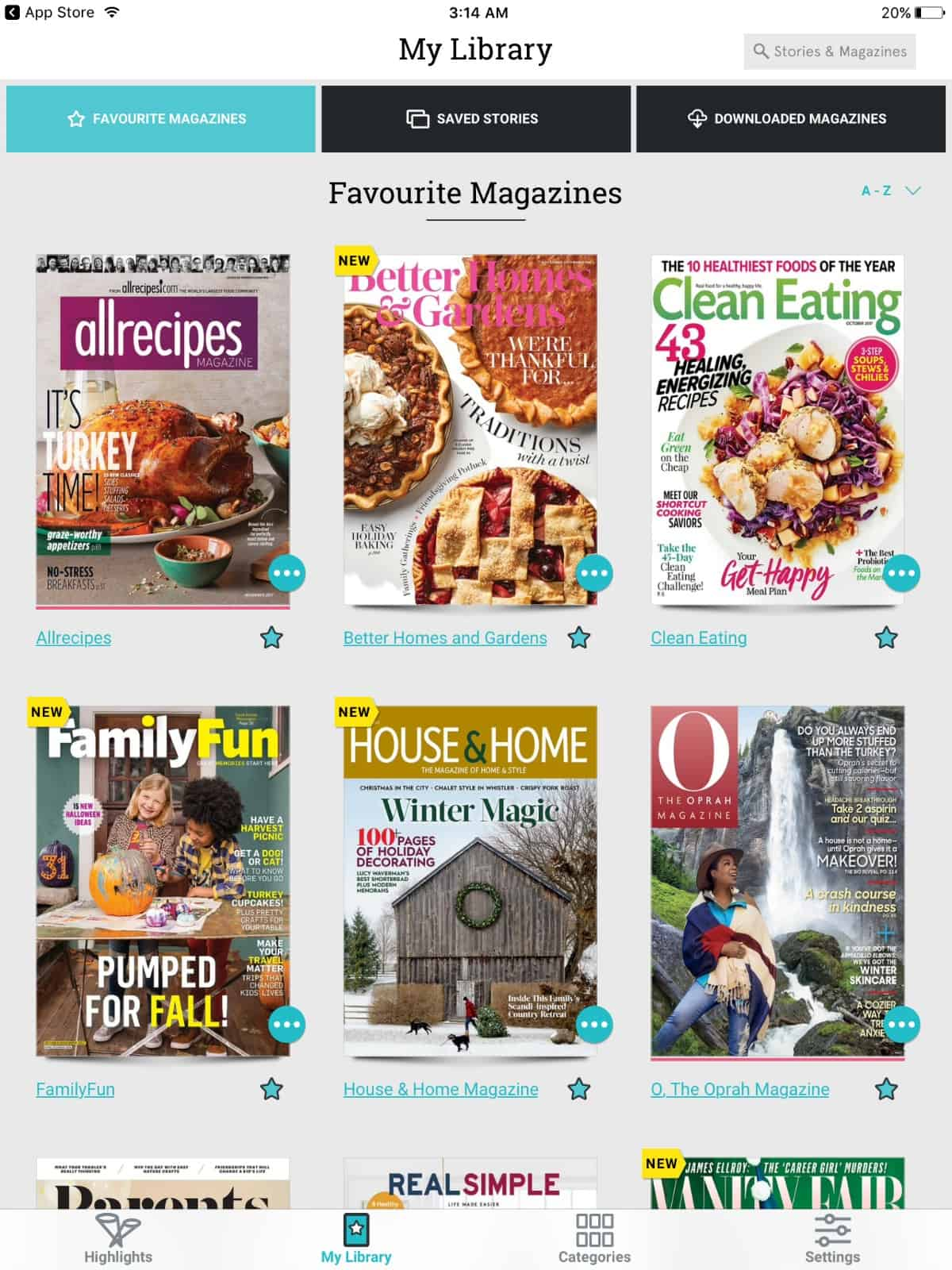 Texture App Library - Favourite Magazines