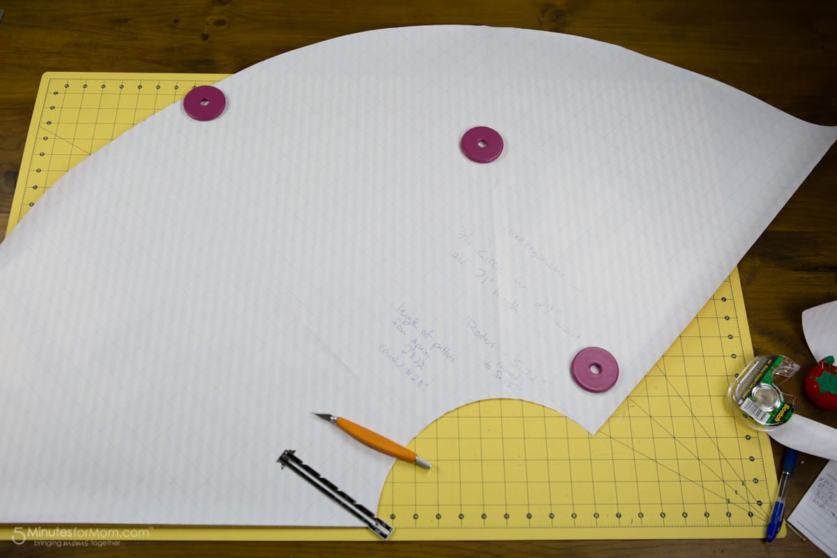 three quarter circle skirt pattern