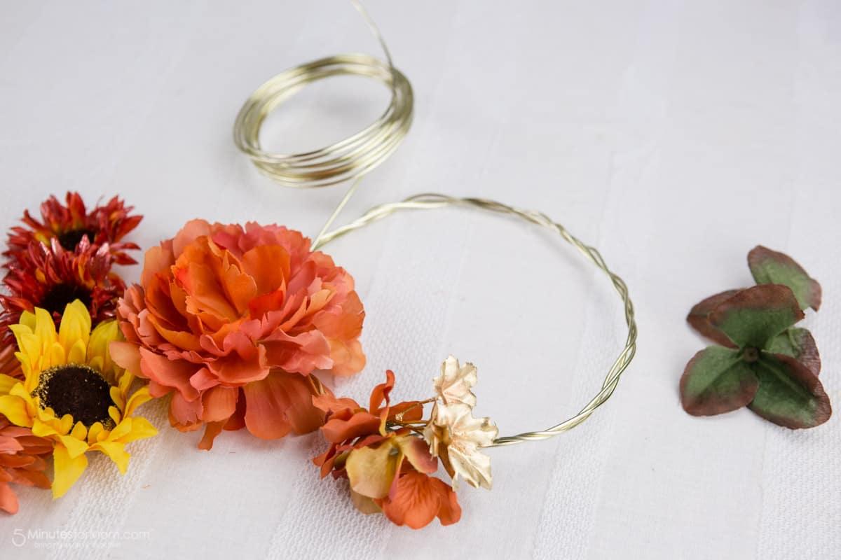 Fall Fairy Flower Crown