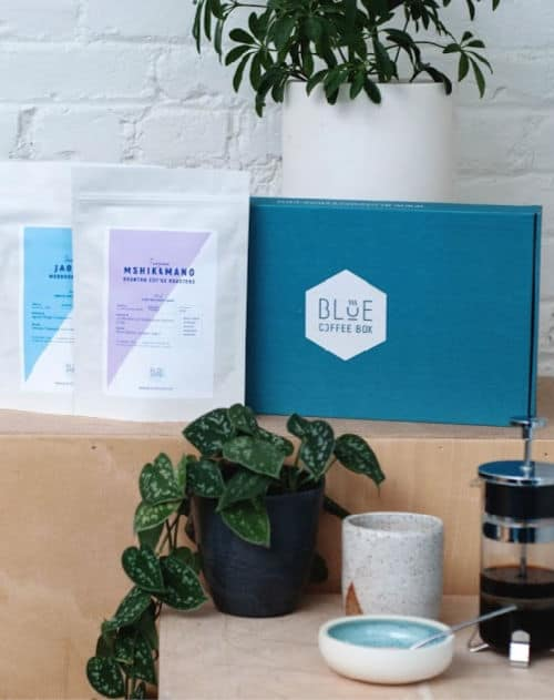 Blue coffee box - Gift Subscription Idea