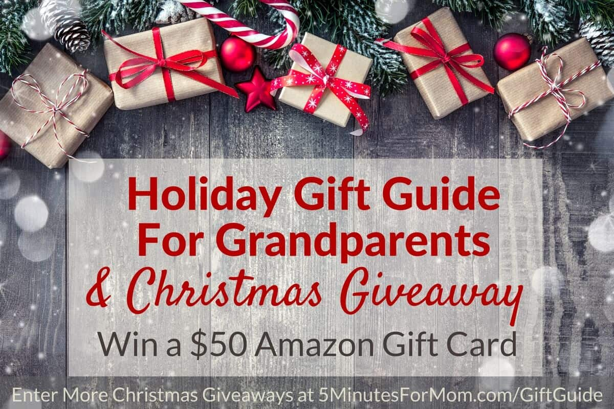 Christmas Giveaway and Holiday Gift Guide for Grandparents