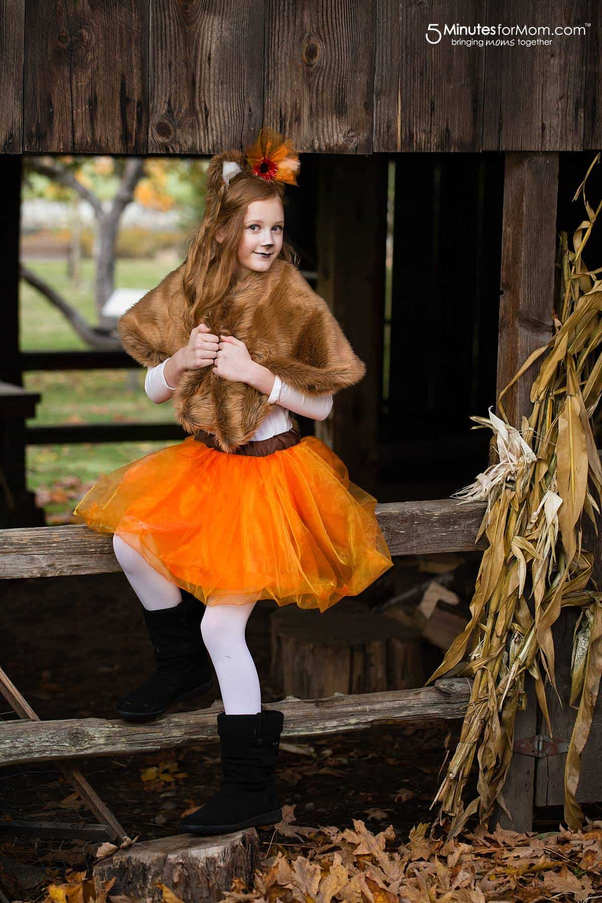DIY fox costume for girls